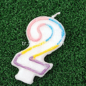 multi-color number candle 2