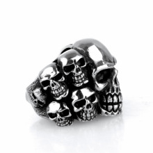 Punk wind death Domineering Titanium steel skull ring