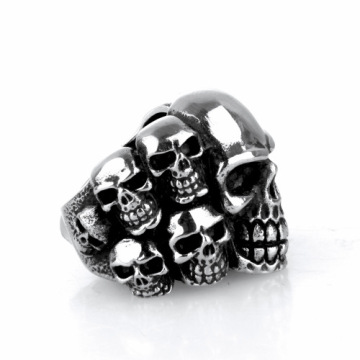 Punk vinddöd Domineering Titanium steel skull ring