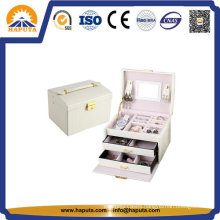 White Leather Cosmetic Case Makeup Kit (HB-6605)