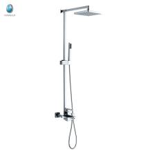 Ducha de mano recta de lujo KDS-18 ducha de cobre macizo montado en superficie control de temperatura multifuncional conjunto mezclador de la ducha