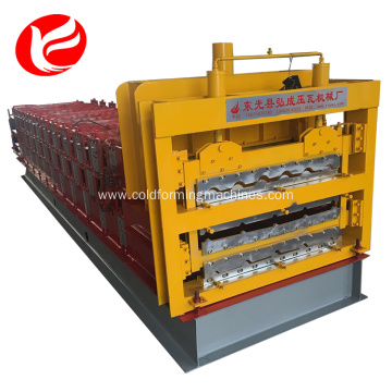 China Gold Supplier for Three Waves Making Machine Three Layer Roofing Sheet Roll Forming Making Machine supply to Samoa Factory