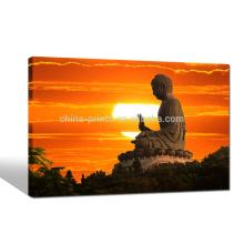 Современная популярная растянутая картина холстины холстины Будда для украшения стены