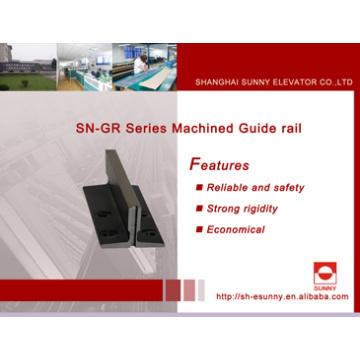 Carril guía de acero para ascensor (carril guía mecanizado)