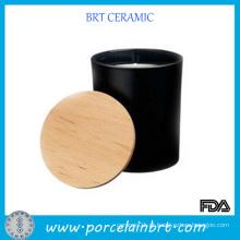 Decorativos frascos de vela preta com tampa