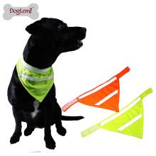 Bandana alta do animal de estimação do lenço do cão da segurança da viscosidade com cor de néon refletindo