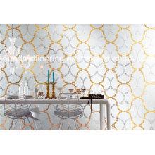 Telha de parede de padrão de mosaico de vidro (HMP854)