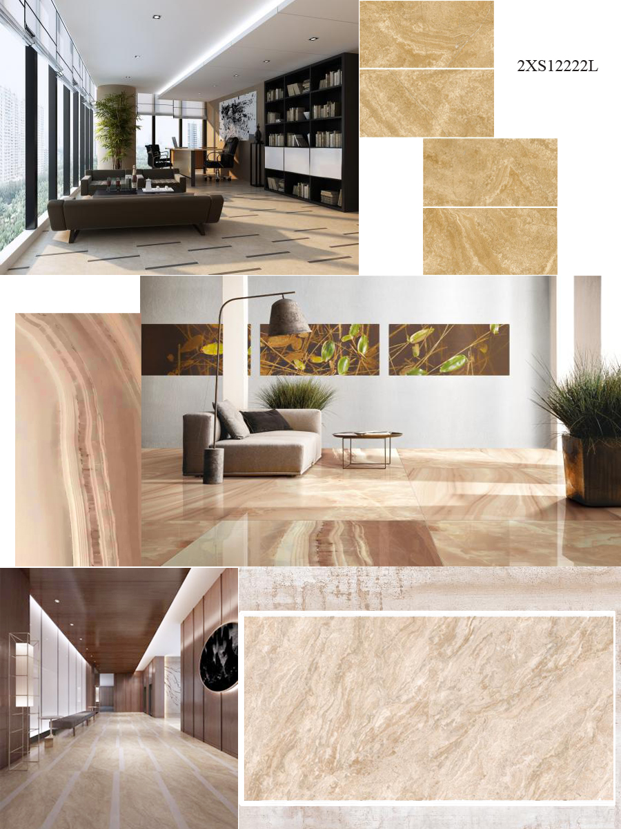 Natural Stone Effect Porcelain Tiles