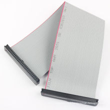 1.27mm pitch 6 8 10 12 14 16 20 24 26 30 34 40 50 60 64 pin idc connector grey flat cable assembly ribbon cable