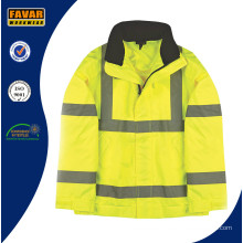 Hi-Vis Yellow Lightweight Bomber Jacket