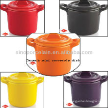 Plat coloré Mini cuite en céramique pour BS12086