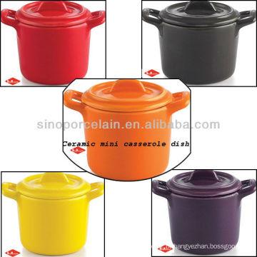 Nice mini cerâmica caçarola prato para BS12086