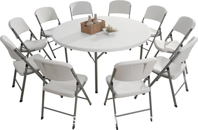 5ft round folding table and chair