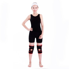 Adjustable spring neoprene knee support