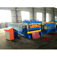Trapezoidal dan Beralur Double Layer Roll Forming Machine