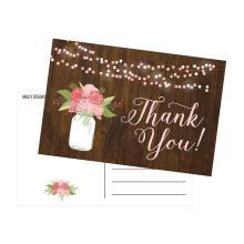 Invitation de mariage de carte de désherbage Merci des fleurs de désherbage
