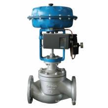 Válvula de control de presión neumática de doble asiento tipo jaula Hcb