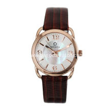 Quartz Japan movement leather women watches