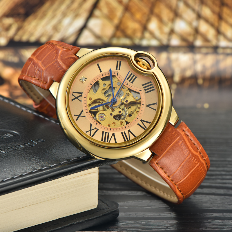 new design fashion custom automatic gold plated girl wrist watch