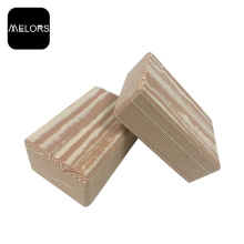Exercise Fitness Wood Grain EVA Foam Yoga Block