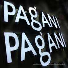 Venta al por mayor Carteles de LED White Channel Storefront Signs