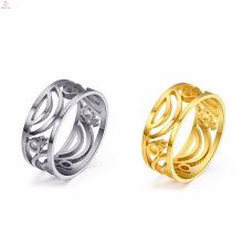 Anneaux d'acier inoxydable creux d'accessoires de bijoux de mariage de couple gay