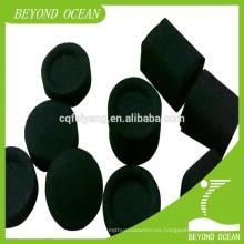 carbón de shisha cúbico natural de bambú