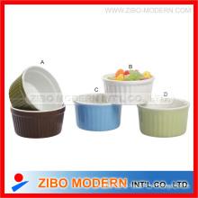 Tazón de cerámica Ramekin con color sólido