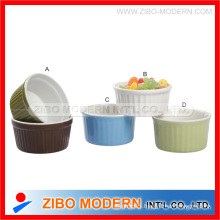 Ceramic Ramekin Bowl with Solid Color