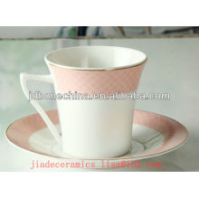 2013 new products manufacture 2pcs bone china cup & saucer