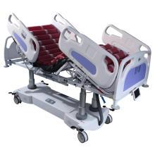 Lit d'hôpital électrique professionnel à 5 fonctions ICU