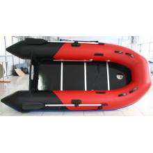 Barco de pesca inflável do PVC, barco de rio, barco inflável