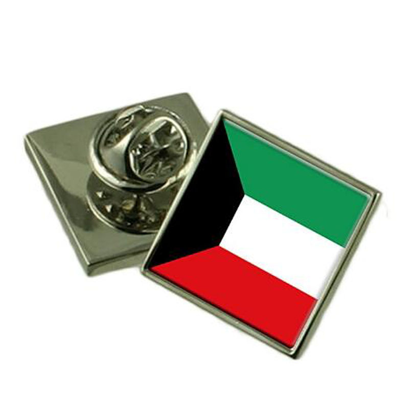 Kuwait Flag Square Lapel Pin Badge