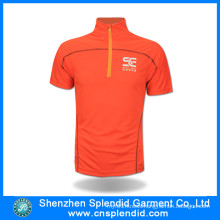 Clothing Guangdong Short Sleeve Orange Breathable Dri Fit Cycling Jersey