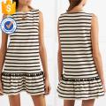 Hot Sale Tassel White And Black Cotton Sleeveless Mini Dress Manufacture Wholesale Fashion Women Apparel (TA0318D)