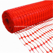 Orange plastic construction safety net