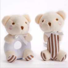 Wholesale soft gifts plush baby shaking toy rattles