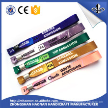 Fashion Woven Polyester Wristband with Lock