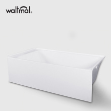 Alcove Bathtub with Left and Right Drain 64