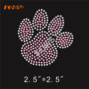 Rhinestone Custom Bling Paw Print Iron on Transfers