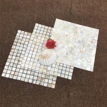 Weiße Muschelperle Mosaikstein