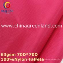 Tela 100% de tela escocesa de nylon para la ropa de la mujer (GLLML355)