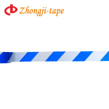 7.5cm blue and white pe warning tape