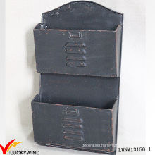 Decorative Metal Magazine Mail Industrial Wall Shelf