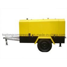 Compresor de aire móvil del rollo del tornillo rotatorio móvil del motor diesel (TDS-10/7 70kw)