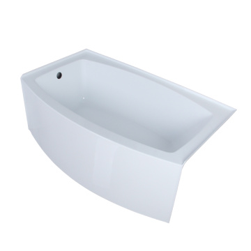 5 Foot Skirted Corner Alcove Tub