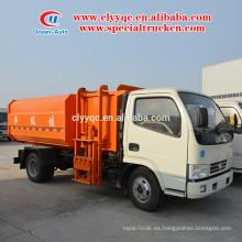 Euro 4 nuevo estado Elevador hidráulico Camión de basura con capacidad de 5 cbm