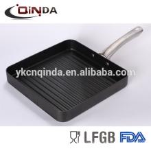 Die fundição pan grill profundo com aço inoxidável revit