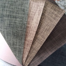 Plain Linen PU Leather for Sofa Cover Cushion