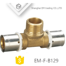 EM-F-B129 press fittings for 3 way male thread PAP press multilayer pipe